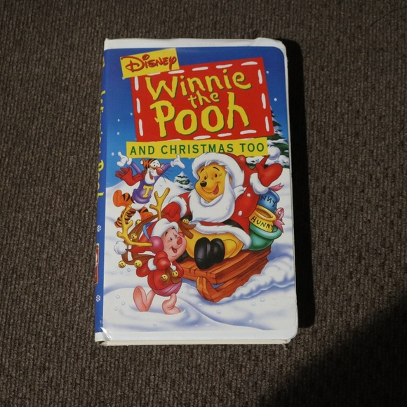 Disney Other - Winnie the Pooh and Christmas Too VHS